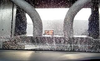 洗車機の動画 ブロー(乾燥)工程